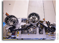 Wheels, Parachute Installed on Mars Perseverance Rover