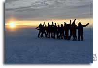 Last Antarctic Sunset At ESA's Concordia Research Station