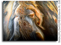 Findings From NASA's Juno Update Jupiter Water Mystery