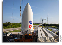 Mars Perseverance Rover Attached to Atlas V Rocket