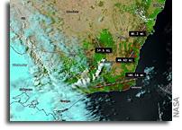 Aqua Measures Australia's Burn Scars From Orbit