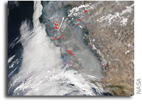 Terra Satellite Shows Smoky Pall Over Most of California