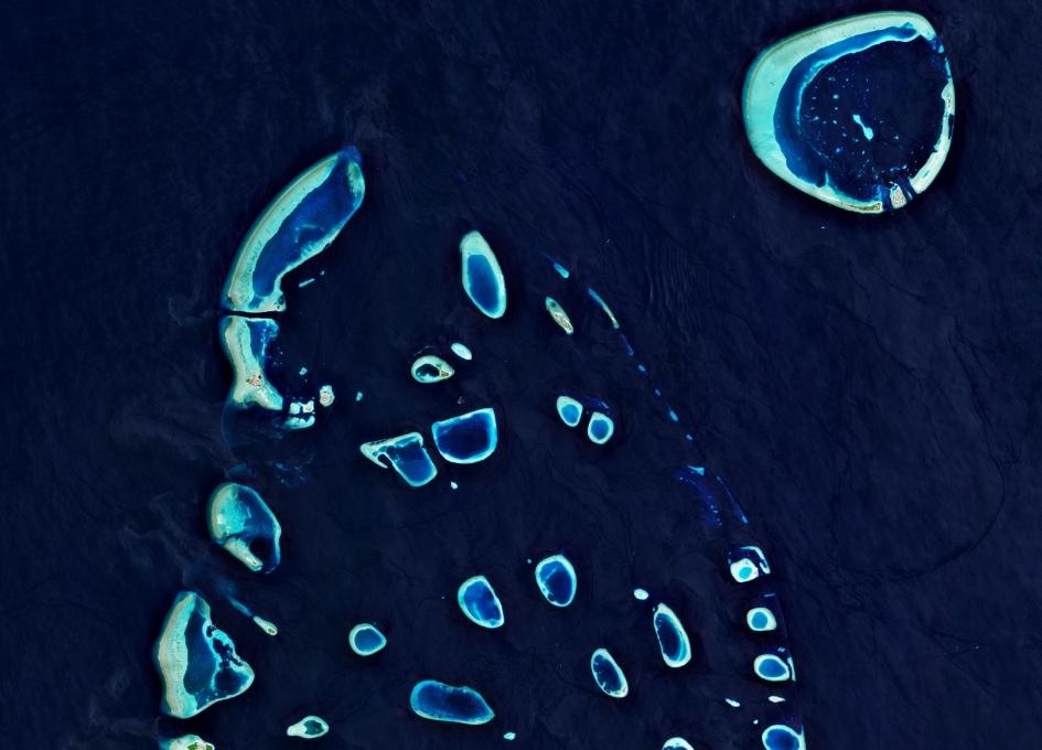 Earth from Space - Ari Atoll, Maldives