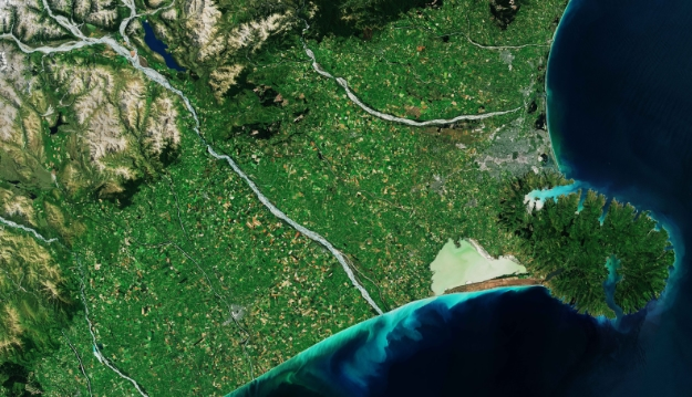 Earth from Space - Banks Peninsula, New Zealand