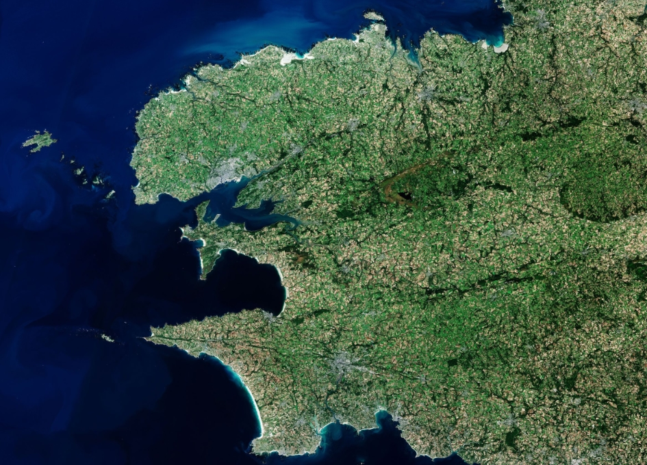 Earth from Space: Finistère, France