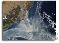 Massive Smoke Plume From New South Wales Fires