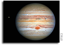 Hubble Captures Crisp New Image of Jupiter and Europa
