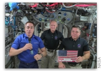 Happy 4th of July from the ISS Expedition 63 US Crew