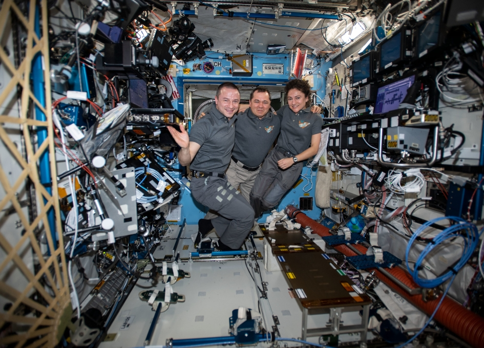 Russian spaceship returns three ISS astronauts safely home class=
