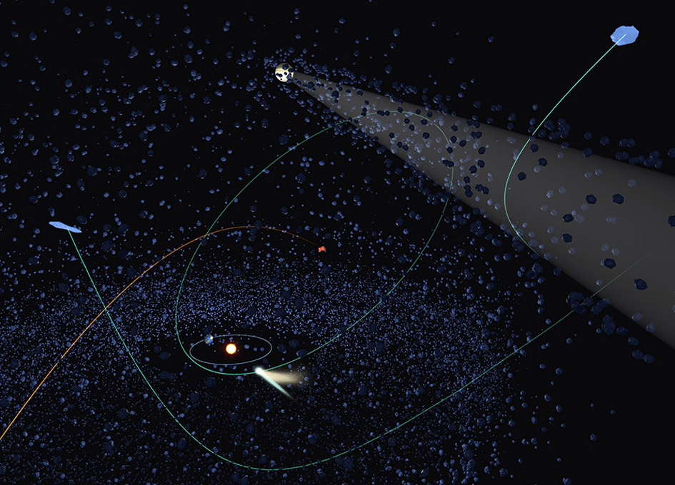 Outbound Comets Are Likely of Alien Origin