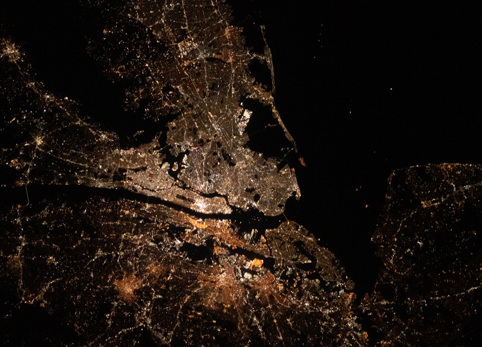 New York City Seen From Orbit At Night