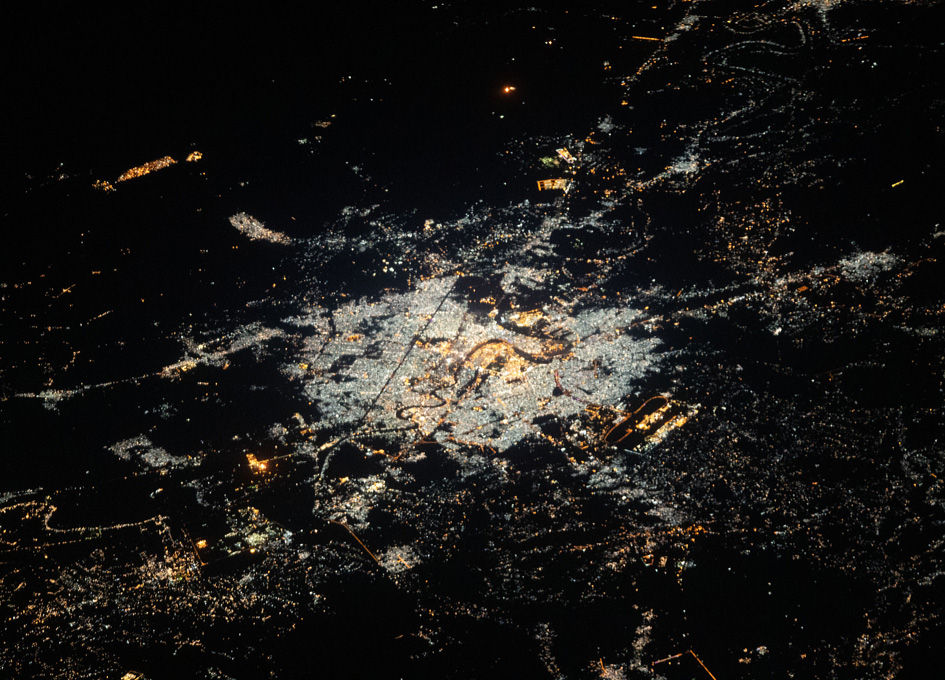 Baghdad, Iraq As Seen At Night From Space