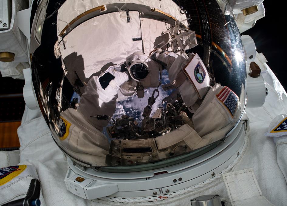 Space Selfie by Jessica Meir