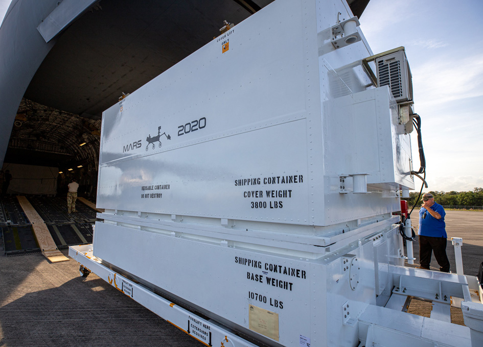 Mars 2020 Rover Arrives At Its Launch Site