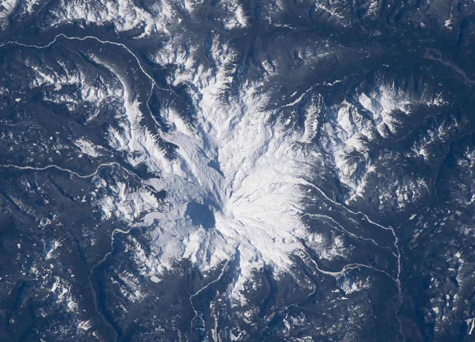 Mount Rainier As Seen From Orbit