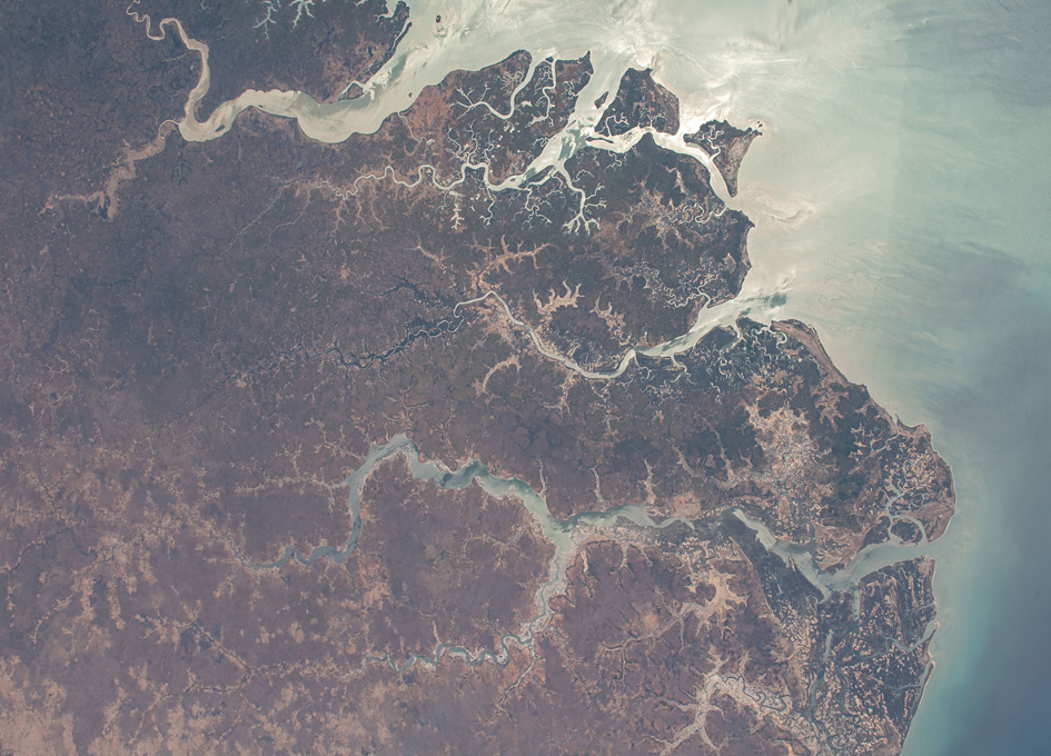 The Rio Geba in Guinea-Bissau Seen From Space