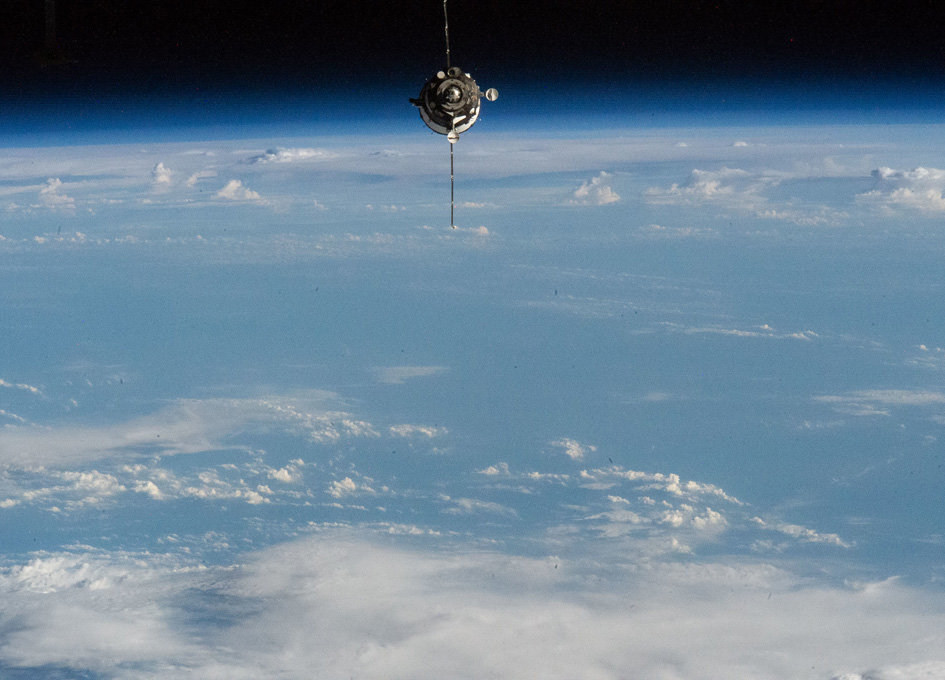Soyuz MS-16 Approaches The International Space Station