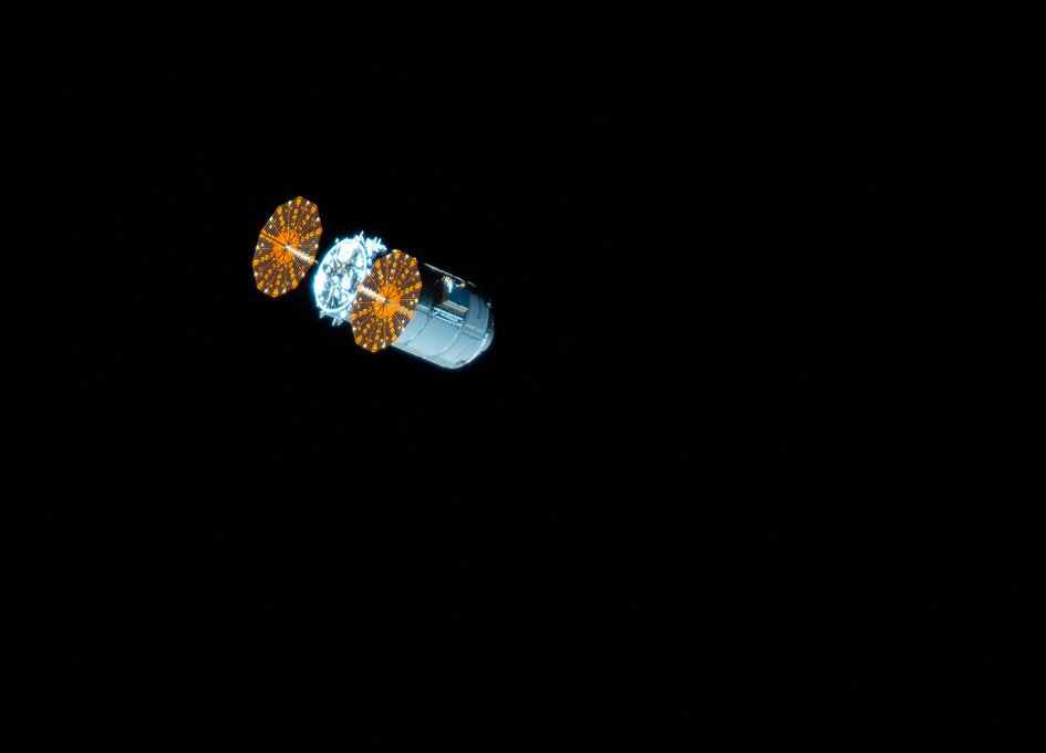 Cygnus Space Freighter Departs ISS