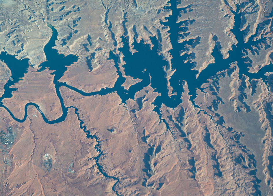 Lake Powell Viewed From Orbit