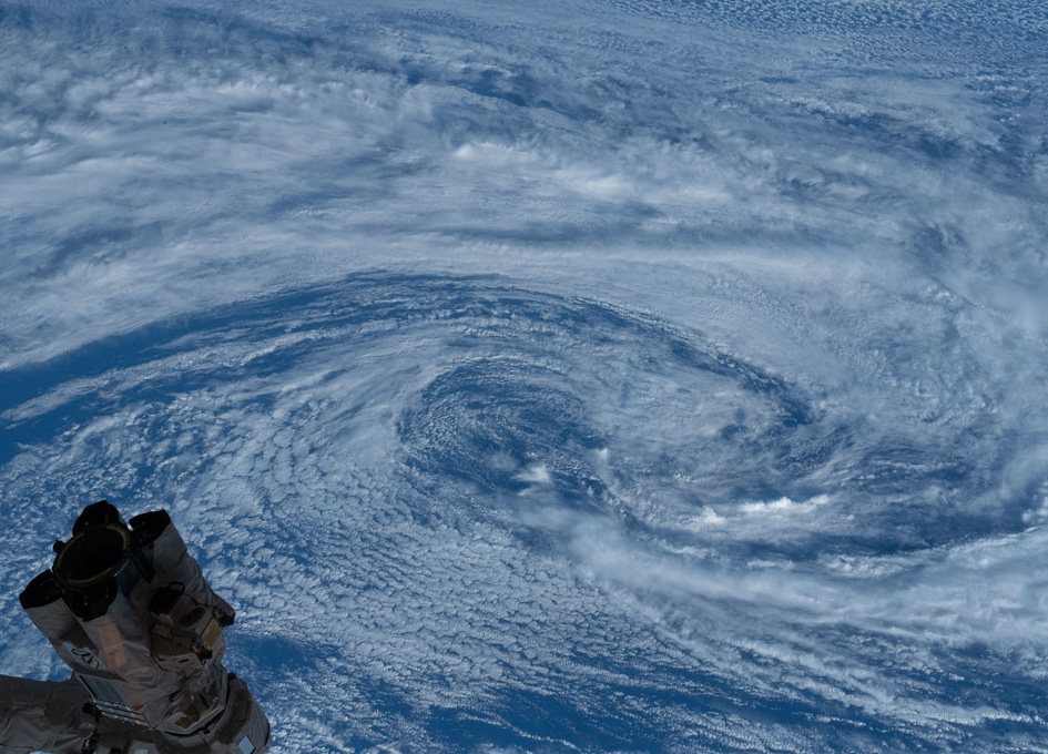 Orbital View Of A Typhoon In The South Pacific