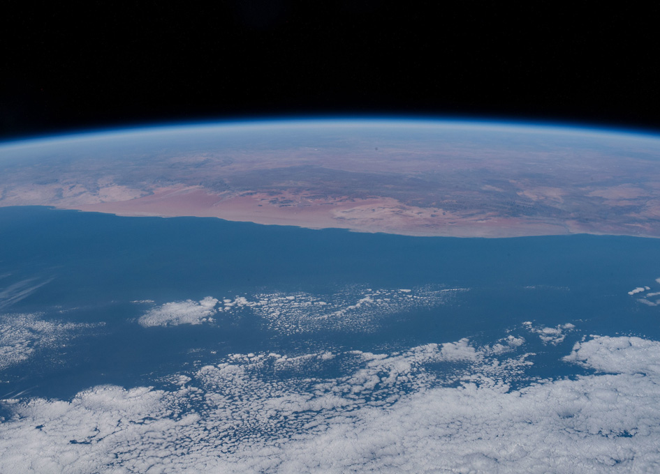 Atlantic Ocean and Africa Seen From Orbit