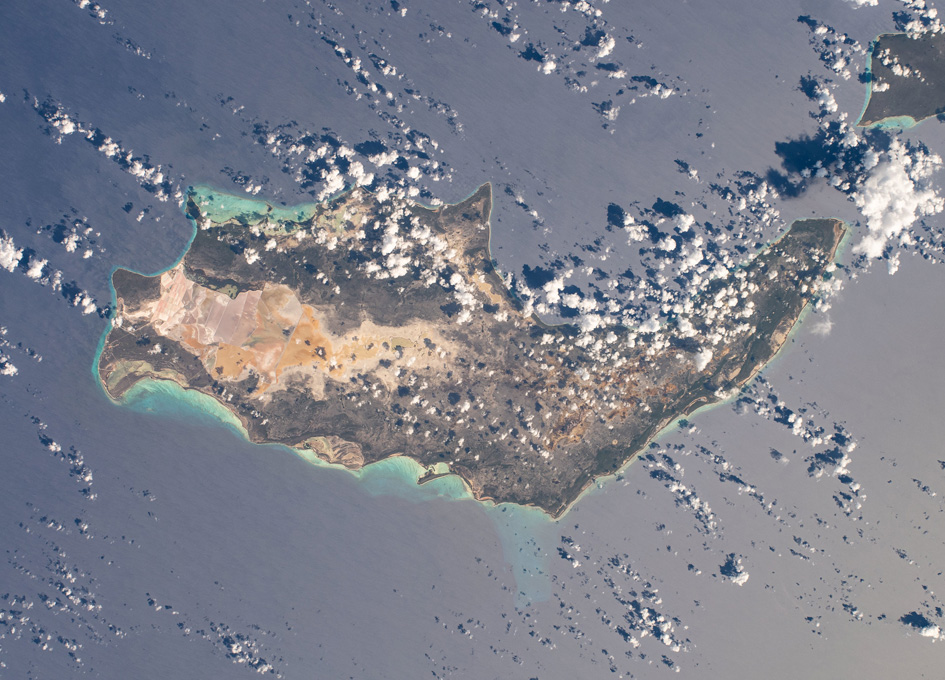 Inagua National Park in The Bahamas As Seen From Orbit