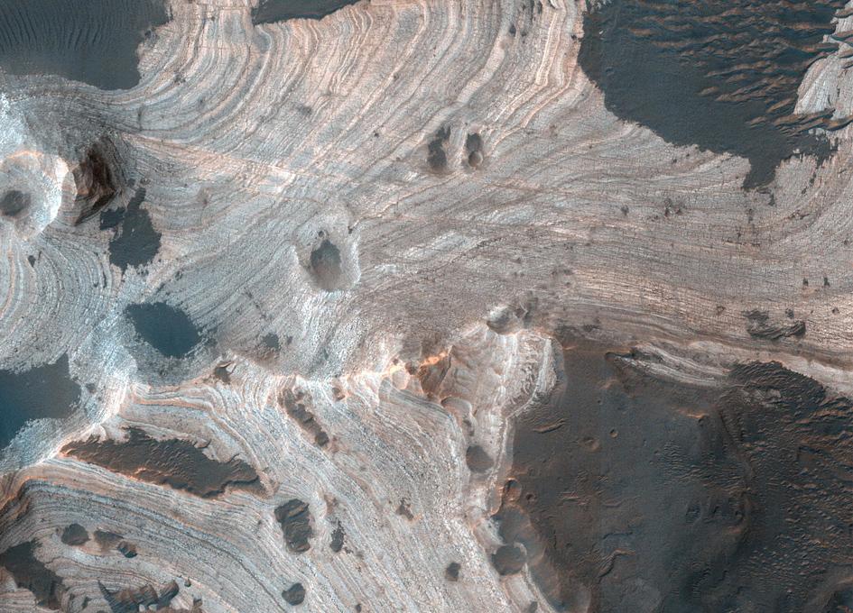 Holden Crater Seen From Orbit