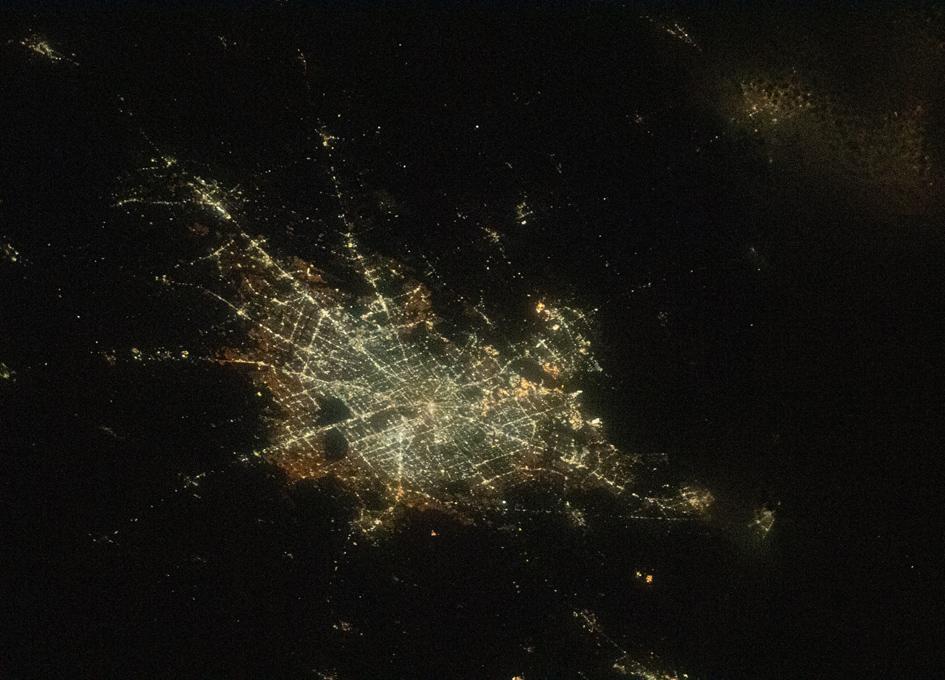 Houston Seen From Orbit At Night