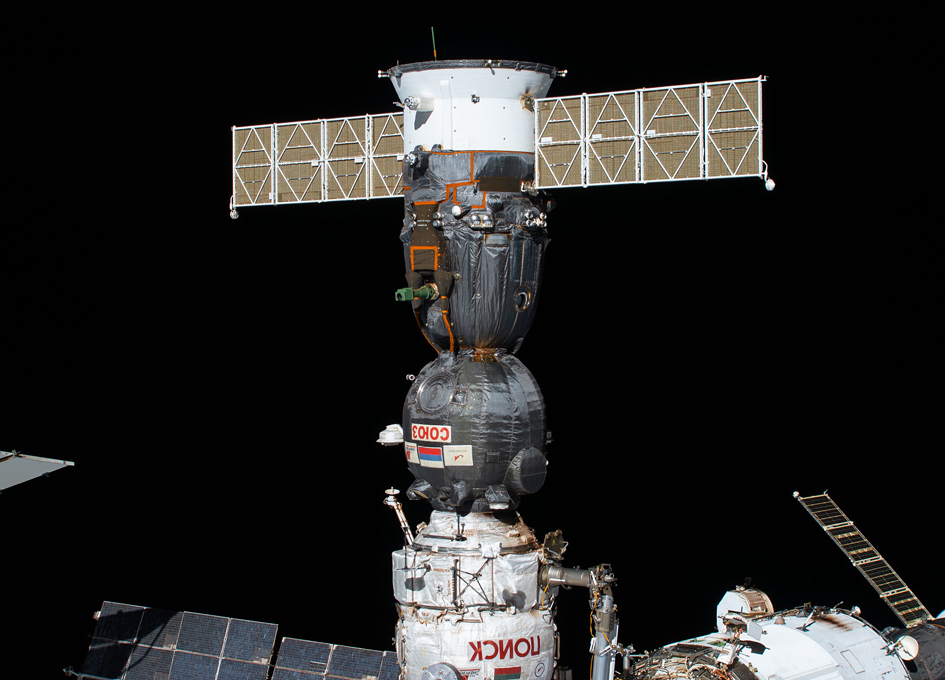 Soyuz MS-16 Docked To The ISS
