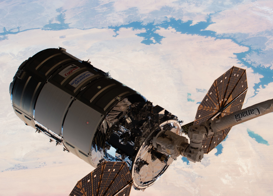 Cygnus Cargo Droid Arrives At The Space Station