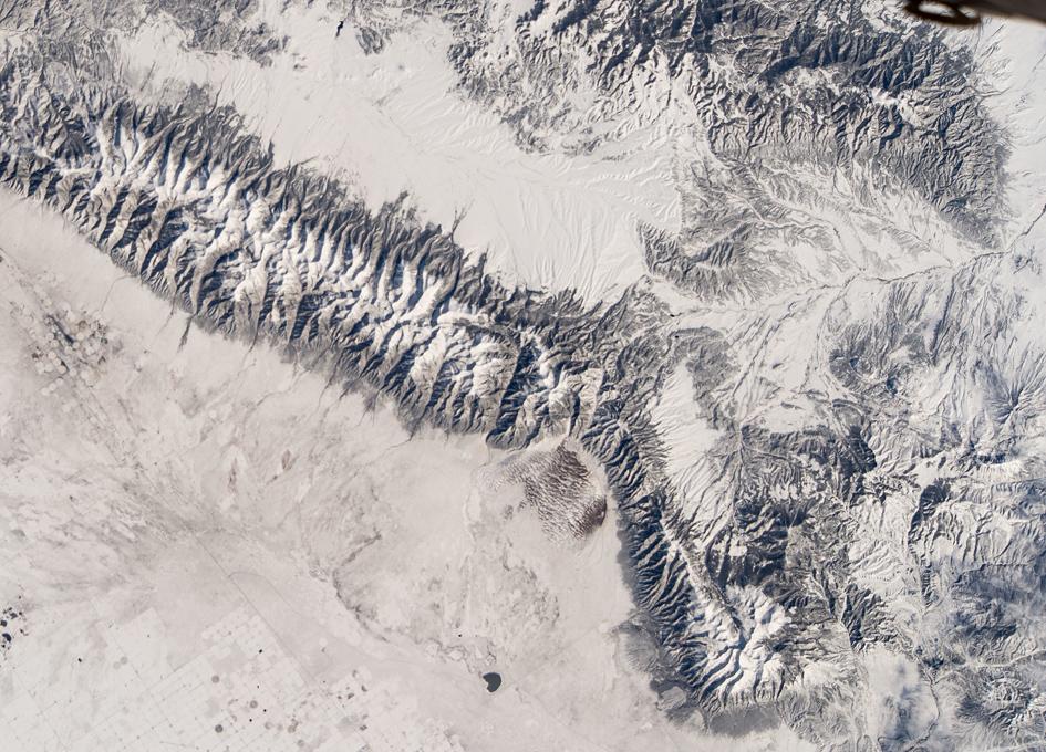 Orbital View Of Rocky Mountain Range In Colorado
