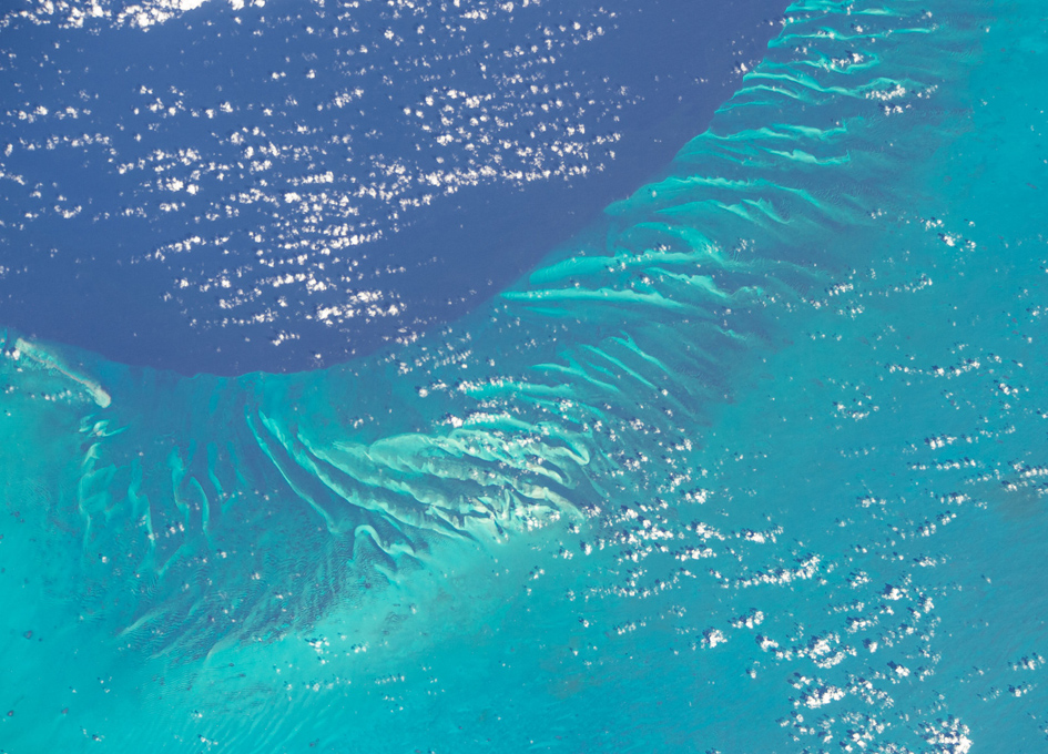 Orbital View Of The Waters Around The Bahamas