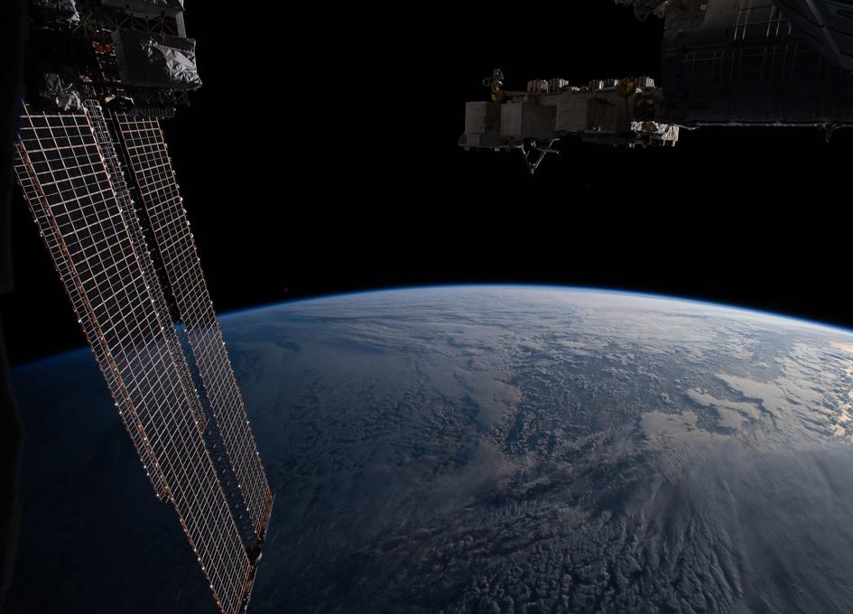 Orbital Sun Glint Over The Northern Pacific