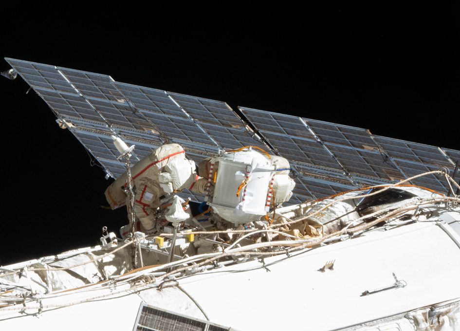Expedition 64 Cosmonauts Perform A Spacewalk