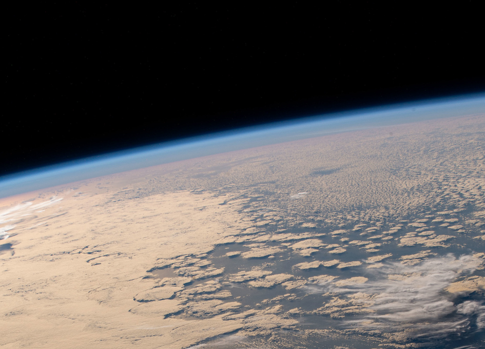 The Pacific Ocean South Of Hawaii As Seen From Orbit