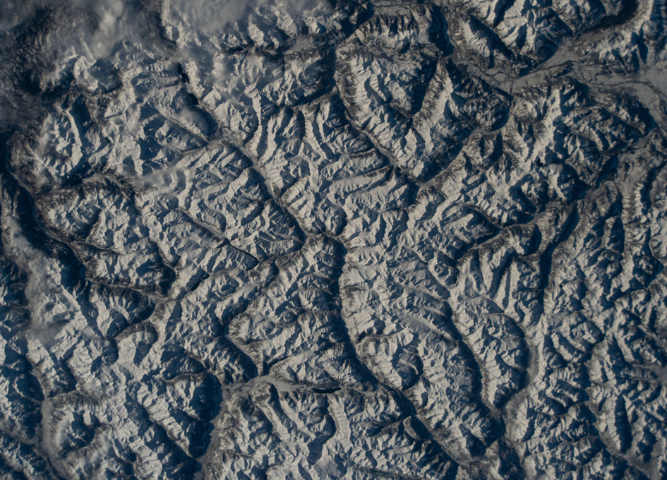 The Swiss Alps Seen From Orbit