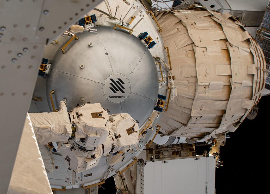 NanoRacks Bishop Airlock Installed On Orbit