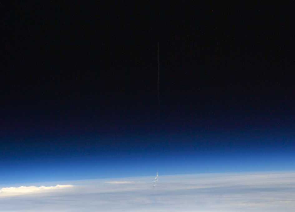 Viewing A Dragon Launch From Orbit