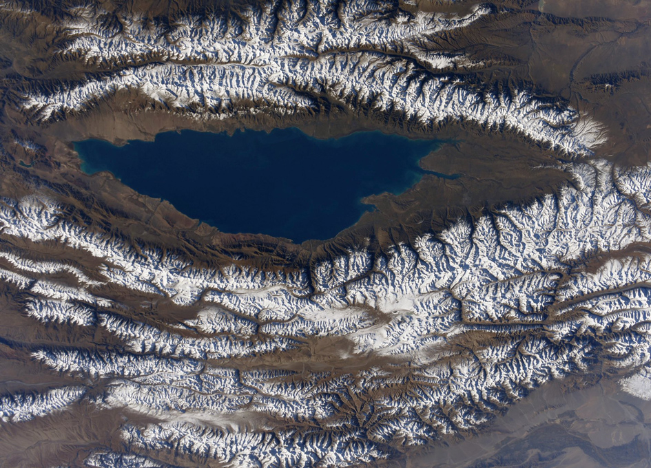 Asian Mountains Viewed From The International Space Station