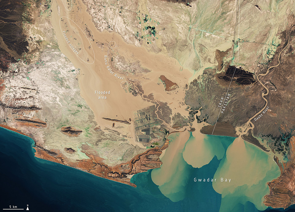 Orbital View Of Flooding in Southern Iran