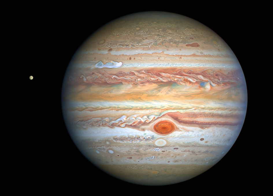 Hubble Captures Spectacular Photos of Jupiter and Its Icy Moon Europa | Astronomy