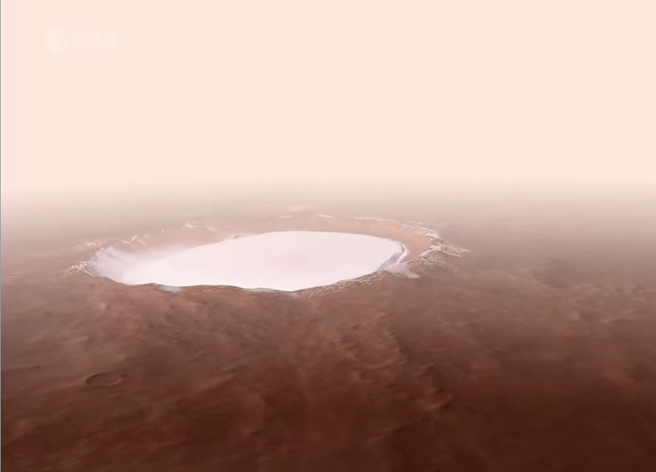 Take A Virtual Flight Over Korolev Crater On Mars