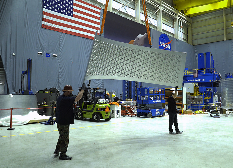 NASA Assembles Artemis II Orion Stage Adapter