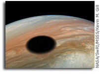 Io Casts A Shadow On Jupiter