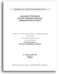 对NASA行星保护独立审查委员会报告的评估beplay游戏