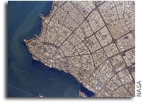 Kuwait City As Seen From Orbit