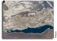 The Aral Sea Seen From Orbit