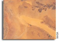 Orbital View Of The Sahara Desert In Central Libya