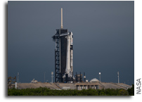 Crew-2 Launch Vehicle On The Pad