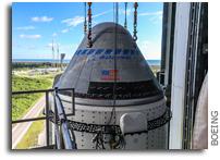 Boeing CST-100 Starliner Secured Atop ULA Atlas V